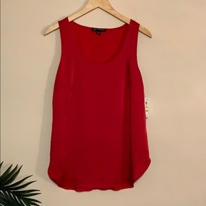 INC Red Scoop neck Tank NWT sz M